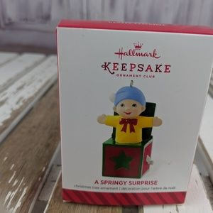 Hallmark keepsake ornament xmas tree springy surpr